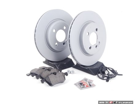 ES#2597262 - 34111502891KT15 - Front Brake Service Kit - Featuring Zimmerman rotors and Pagid pads - Assembled By ECS - MINI