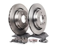 ES#2986783 - 34351181344KT2 - Rear Brake Service Kit - Featuring Brembo rotors and low-dust Akebono Euro Ceramic pads - Assembled By ECS - BMW