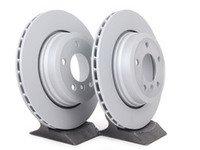 ES#252633 - 34213332217zimKT - Rear Brake Rotors - Pair (320x22) - A pair of replacement rotors - Zimmermann - BMW