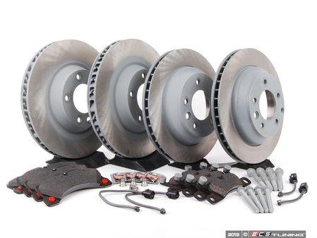 ES#2602452 - 95535140151OEKT1 - Front & Rear Brake Service Kit - Featuring Sebro rotors and Textar brake pads - Assembled By ECS - Porsche