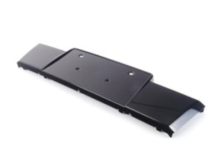 ES#460179 - 8R0807285AT94 - Front License Plate Bracket - Glossy Black - Keep a clean look and add a place for your plate - Genuine Volkswagen Audi - Audi