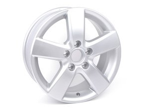 "ES#324764 - 1T0601025M8Z8 - 16"" Mugello - Priced Each  - 16""x6.5"" ET50 5x112 - Diamond Silver - Genuine Volkswagen Audi - Volkswagen"