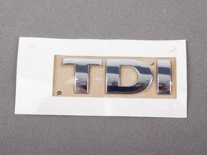 "ES#3429 - 3B0853675AN739 - ""TDI"" Emblem - All Chrome stick on emblem - Genuine Volkswagen Audi - Volkswagen"
