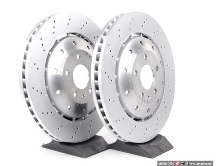 ES#2749057 - 420615301DKT3 - Front Brake Rotors - Pair (365x34) - Restore the stopping power in your vehicle - Genuine Volkswagen Audi - Audi