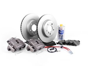 ES#2550474 - 341136463 - OE Front Big Brake Kit (325x25) - Featuring coated blank rotors and Hawk HPS pads! - Assembled By ECS - BMW