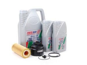 ES#2717954 - 002292ECS01AKT1 - Oil Service Kit - With ECS Magnetic Drain Plug & Oil Filter Housing Cap - Includes OE oil filter, magnetic drain plug/washer, 7 liters of Pentosin 5w-40, and ECS Billet Filter Housing Cap - Assembled By ECS - Audi