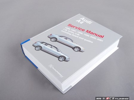 ES#596 - A401 - Audi B5 A4 (1996-2001) Service Manual  - A comprehensive must-have for any do-it-yourselfer! Includes 1524 pages of maintenance, service, and repair information. - Bentley - Audi