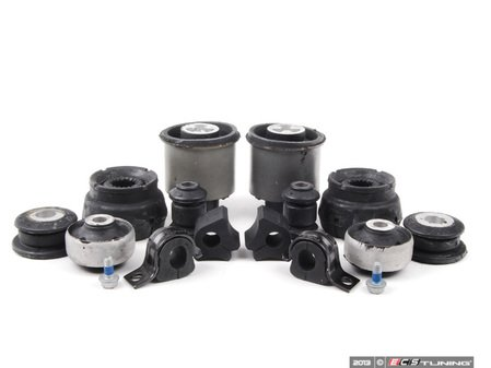 ES#2602145 - 1J0411314TKT3 - ECS Complete Bushing Kit - Featuring ECS Heavy Duty Strut Mounts - Replace the rubber in your suspension with fresh bushings to bring back your handling - Assembled By ECS - Volkswagen