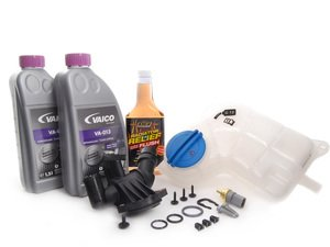 ES#2582027 - 06D121111GKT2 - Cooling System Refresh Kit - Level 2 - Replace your thermostat, temp sensors, and expansion tank after performing a proper coolant system flush! - Assembled By ECS - Audi