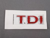 "ES#3425 - 1J0853675ACGQF - ""TDI"" Emblem - All Red stick on emblem - Genuine Volkswagen Audi - Volkswagen"