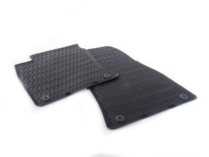 ES#388614 - 4E1061221041 - All Weather Front Floor Mats - Black - Great looking & great performing front floor mats for your A8/S8 - Genuine Volkswagen Audi - Audi