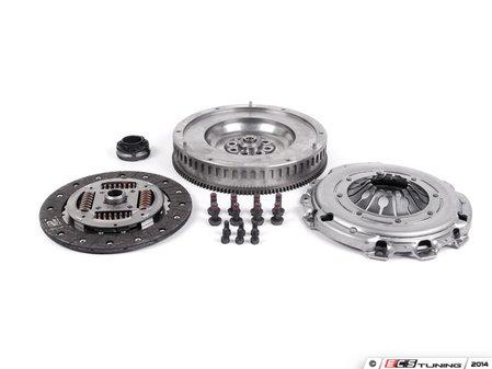 ES#2649767 - 52405618 - Clutch Kit - Single Mass Flywheel - Includes clutch disc, pressure plate, solid flywheel, throw-out bearing, & flywheel mounting hardware. - Valeo - Audi