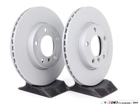 ES#4141731 - 34119811537KT2 - Front Brake Service Kit - Featuring Zimmerman rotors and Akebono pads - Assembled By ECS - MINI