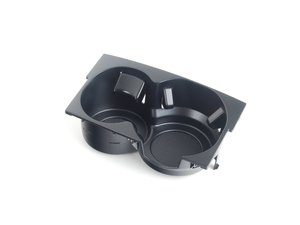 ES#388879 - 4E1862553A4PK - Cup Holder Insert - Sabre (Black) - Replace your cracked or missing pieces - Genuine Volkswagen Audi - Audi