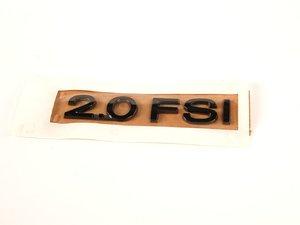 """ES#1120111 - 3C0853675SL85 - """"2.0FSI"""" Emblem - Dark Chrome stick on emblem - Genuine European Volkswagen Audi - Audi Volkswagen"""