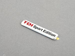 """ES#3895 - 1JM853675BKTP - """"TDI Sport Edition"""" Emblem - Chrome / Red stick on Emblem - Genuine Volkswagen Audi - Volkswagen"""