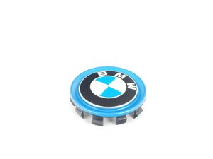 ES#2717997 - 36136852052 - Wheel Center Cap With Blue Ring - Priced Each - Blue center cap for BMW Electric vehicles. - Genuine BMW - BMW