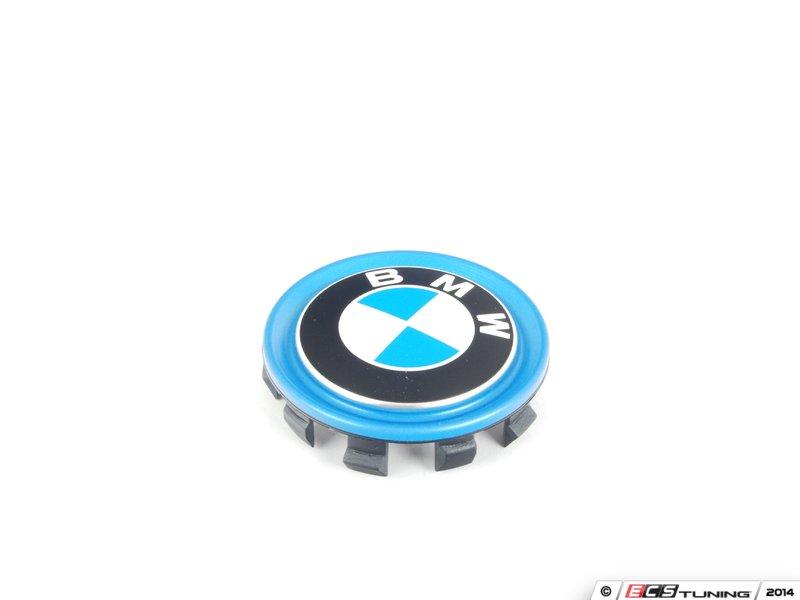 Electric Hub Caps : Genuine bmw  wheel center cap with blue