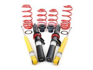 "ES#12182 - 39258-16 - Premium Performance Coilover Kit - Ultra lightweight aluminum performance kit. Average lowering of 1.2""-2.0""F 1.0""-2.0""R - H&R - Volkswagen"