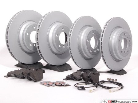 ES#2588538 - 34216775678KT - Front & Rear Brake Service Kit - Featuring Zimmermann rotors and Akebono Euro Ceramic pads - for the discerning enthusiast. - Assembled By ECS - BMW