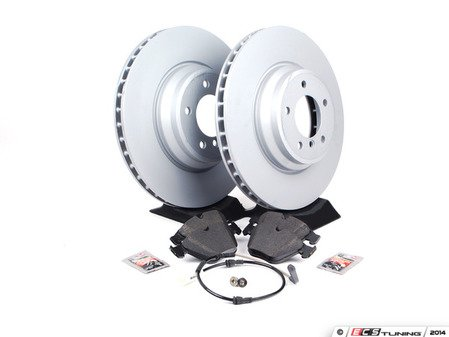 ES#2588532 - 34356789440KT1 - Front Brake Service Kit - Featuring Zimmermann rotors and Akebono Euro Ceramic pads - for the discerning enthusiast. - Assembled By ECS - BMW