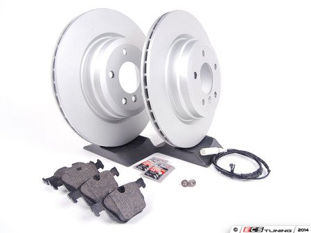 ES#2618447 - 34216855004KT3 - Rear Brake Service Kit - Featuring Zimmermann rotors and Akebono Euro Ceramic pads - for the discerning enthusiast. - Assembled By ECS - BMW