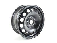 "ES#484239 - 1K0601027K03C - 16"" Steel Wheel - Priced Each - Rally Black wheel, 5x112 16x6.5 ET50 - Genuine Volkswagen Audi - Audi Volkswagen"