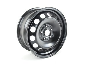 "ES#484239 - 1K0601027K03C - 16"" Steel Wheel - Priced Each - 16""x6.5"" ET50 5x112 - Rally Black - Genuine Volkswagen Audi - Audi Volkswagen"