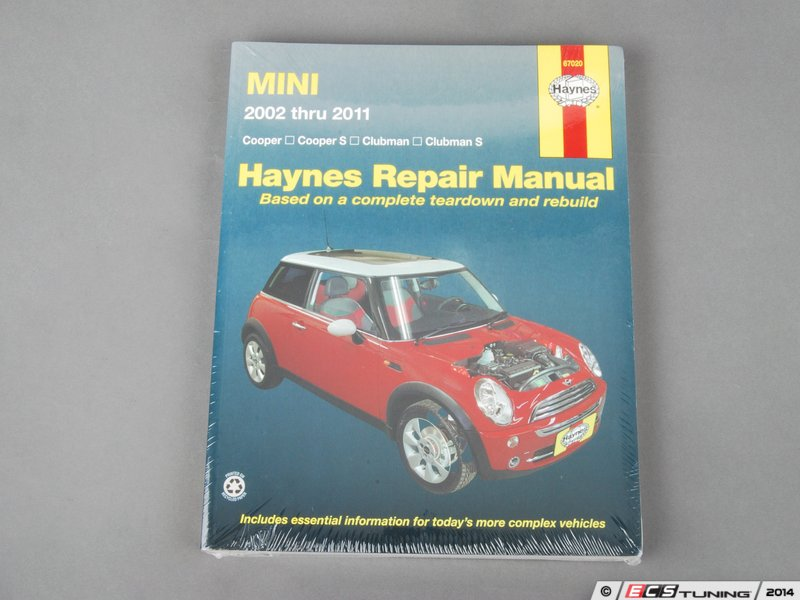 ecs news mini cooper cooper s jcw haynes repair manual. Black Bedroom Furniture Sets. Home Design Ideas