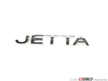 "ES#7075 - 1k5853687739 - ""Jetta"" Emblem - Chrome rear stick on emblem - Genuine Volkswagen Audi - Volkswagen"