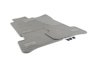 ES#1828006 - Q6680699 - All-Season Floor Mats - Grey - Set of four with 'Mercedes-Benz' and Star logo - Genuine Mercedes Benz - Mercedes Benz