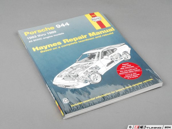 Haynes Porsche 944 1983-1986 Owner's Workshop Manual Satisfaction Guaranteed
