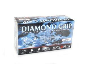 ES#2718809 - MF300L - Diamond Grip Latex Gloves - Large  - Pack of 100 textured, powder-free gloves - Microflex - Audi BMW Volkswagen Mercedes Benz MINI Porsche