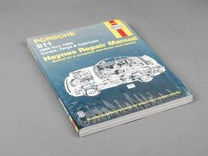 ES#2713455 - 80020 - Haynes Repair Manual - Porsche 911 ('65-'89) - Based on a complete teardown and rebuild - Haynes - Porsche
