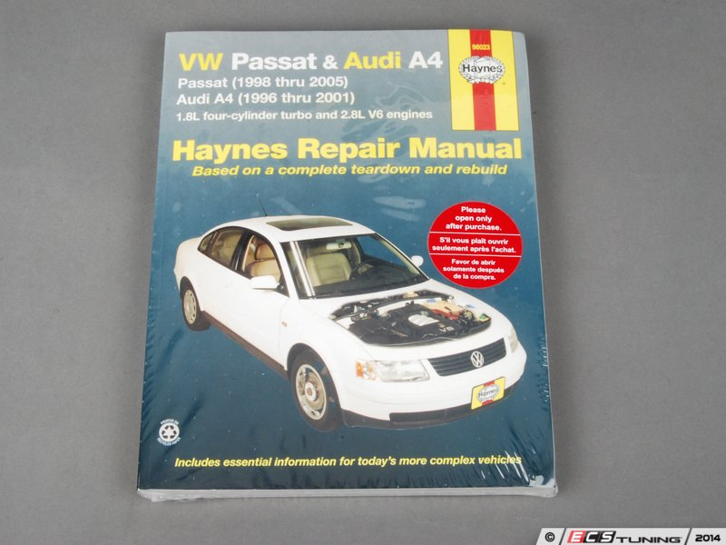 ecs news vw b5 passat haynes repair manual. Black Bedroom Furniture Sets. Home Design Ideas