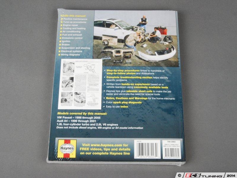 ECS News - Haynes Repair Manual - VW B5 Passat