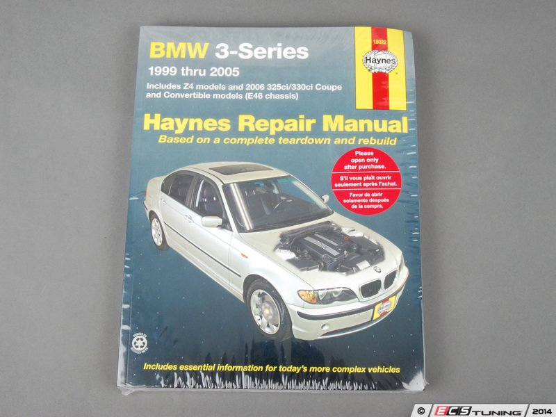 ecs news haynes repair manual bmw e46 non m 3 series rh ecstuning com 2000 bmw 323i service manual 2000 bmw 323i manual