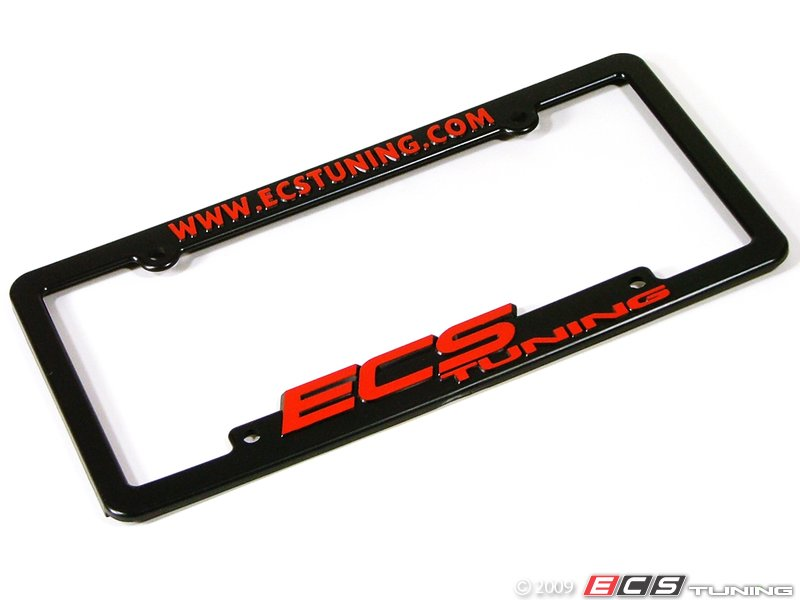 es5715 ecs lp frame red ecs tuning license plate