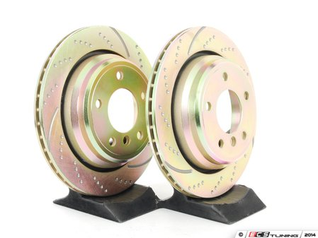 ES#522216 - GD860 - Rear Sport Rotors - Pair (298x20) - Upgrade to a dimpled and slotted rotor for improved braking - EBC - BMW