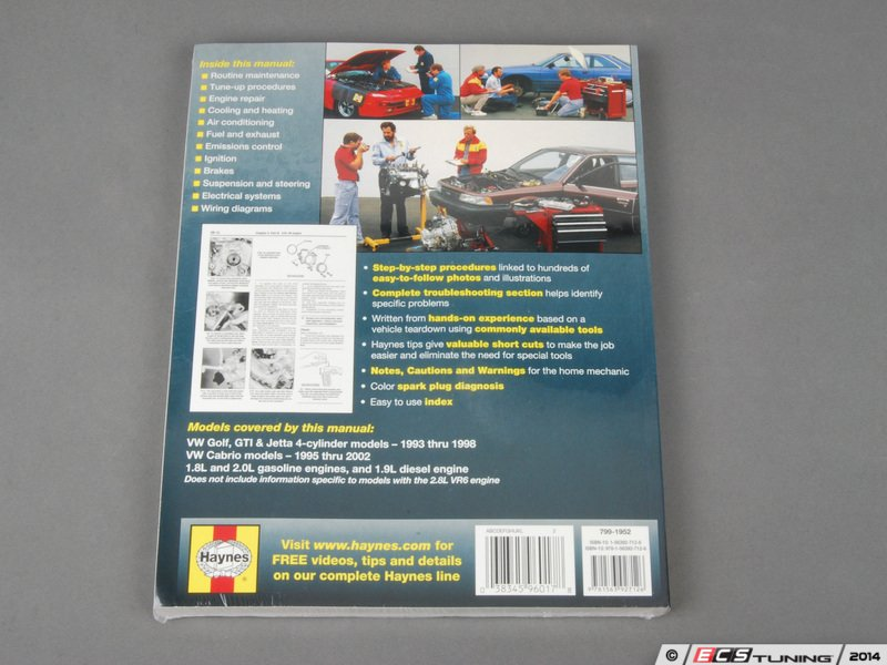 ECS News - Haynes Repair Manual - VW MKIII Golf/Jetta