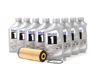 ES#2718498 - 1041800109KT - Engine Oil Service Kit - With 0W-40 Engine Oil - Everything you need to perform an engine oil service - Genuine Mercedes Benz - Mercedes Benz