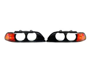 """ES#2702679 - 63128362832kt - Headlight Lens Cover Set  - Eliminate the """"sand-blasted"""" look of high mileage headlights. Features amber corner markers. - Bremmen Parts - BMW"""