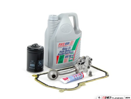 ES#7579 - 058198021 - Oil Sludge Repair Kit - Replace your clogged pickup tube and oil pump - Assembled By ECS - Audi Volkswagen