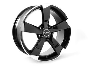 "ES#2719098 - 628-4kt1 - 18"" Style 628 Wheels - Set Of Four - 18""x8"" ET45 66.6CB 5x112 Gloss Black/ Machined Face - Alzor - Audi"