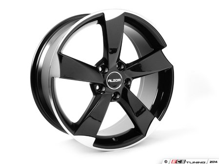 "ES#2719090 - 628-4kt - 18"" Style 628 Wheels - Set Of Four - 18""x8"" ET45 5x112 - Gloss Black/Machined Face - Alzor - Audi Volkswagen"