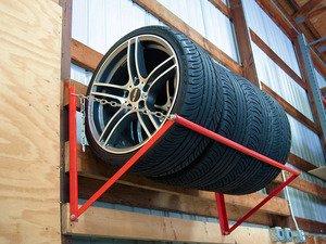 ES#2719305 - 003638SCH01A - Wall-Mounted Wheel  Tire Storage Rack - Store your wheels and tires without taking up floor space! - Schwaben - Audi BMW Volkswagen Mercedes Benz MINI Porsche