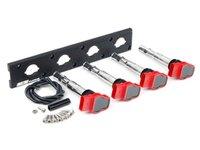 ES#2713417 - 002598ECS01AKT - 2.0T Coil Pack Conversion Kit - Stage 1 - Includes wrinkle black conversion plate -w- red 2.0T coils - Assembled By ECS - Audi Volkswagen