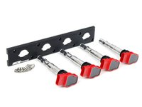 ES#2713391 - 002598ECS01KT - 2.0T Coil Pack Conversion Kit - Stage 1 - Includes wrinkle black conversion plate -w- red 2.0T coils - ECS - Audi Volkswagen