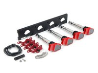 ES#2713422 - 002598ECS03AKT - 2.0T Coil Pack Conversion Kit - Stage 2 - Includes wrinkle black conversion plate -w- red 2.0T coils and red hold down kit - Assembled By ECS - Audi Volkswagen