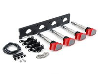 ES#2713418 - 002598ECS02AKT - 2.0T Coil Pack Conversion Kit - Stage 2 - Includes wrinkle black conversion plate -w- red 2.0T coils and black hold down kit - Assembled By ECS - Audi Volkswagen